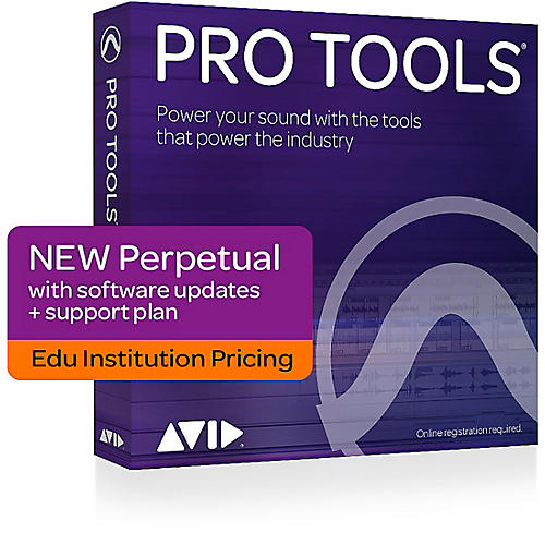 Avid Pro Tools 2018 with 1-Year of Updates + Support Plan Academic Institution Perpetual License (Boxed) thumbnail