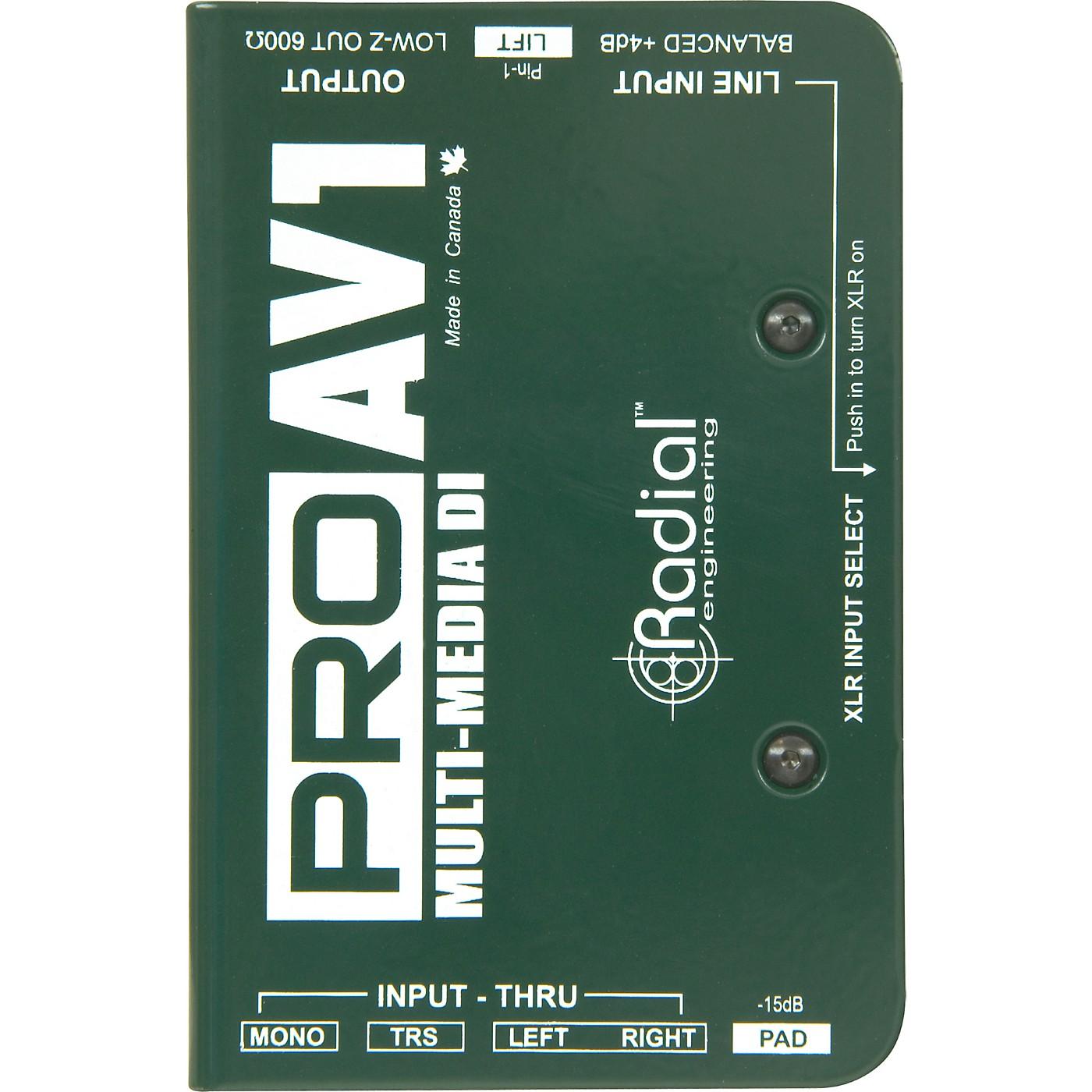 Radial Engineering ProAV1 Single-Channel Direct Box thumbnail