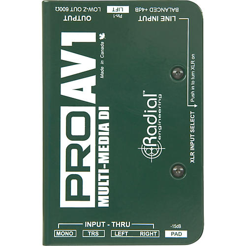 Radial Engineering ProAV1 Single-Channel Direct Box thumbnail