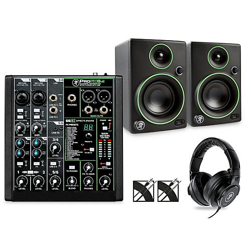 Mackie ProFXv3 Podcast Bundle with CR3 Monitors & MC-150 Headphones thumbnail