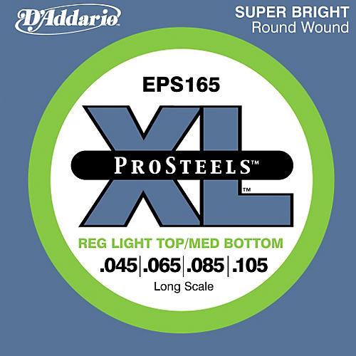 D'Addario ProSteels EPS165 Light Top/Medium Bottom Long Scale Bass Strings thumbnail