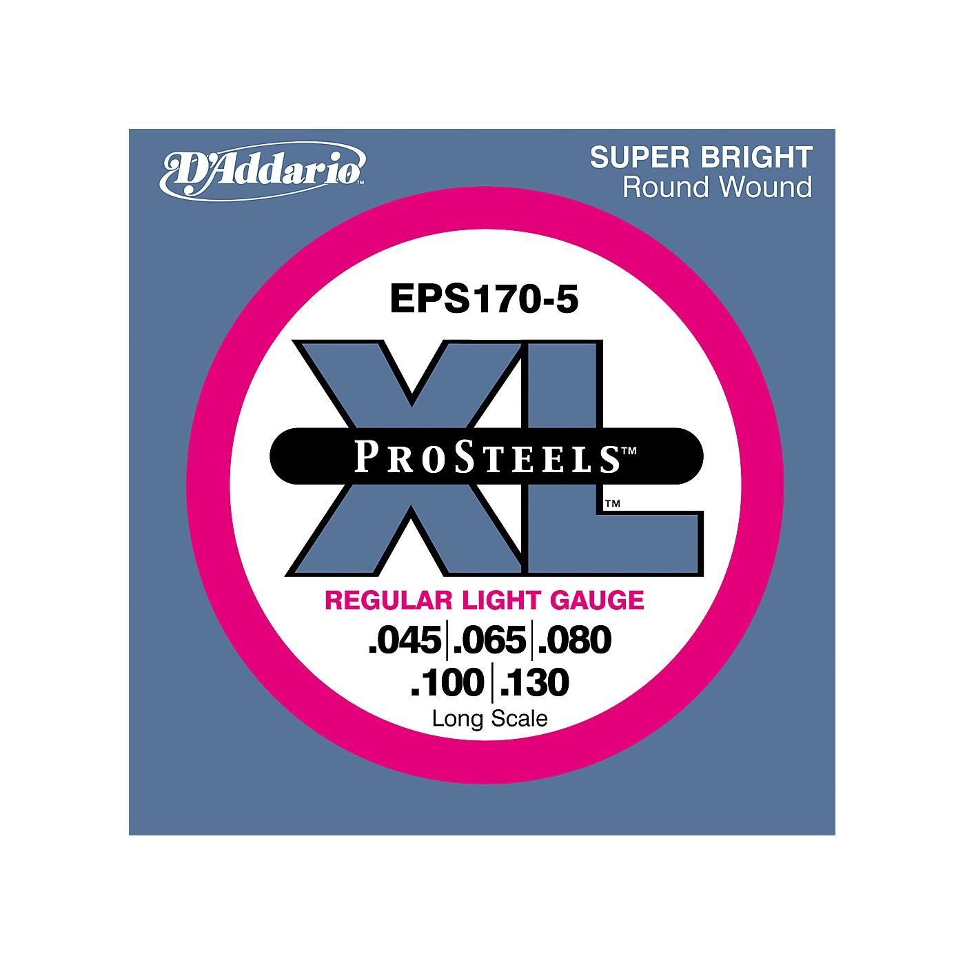 D'Addario ProSteels EPS170-5 Regular Light 5-String Bass Strings thumbnail