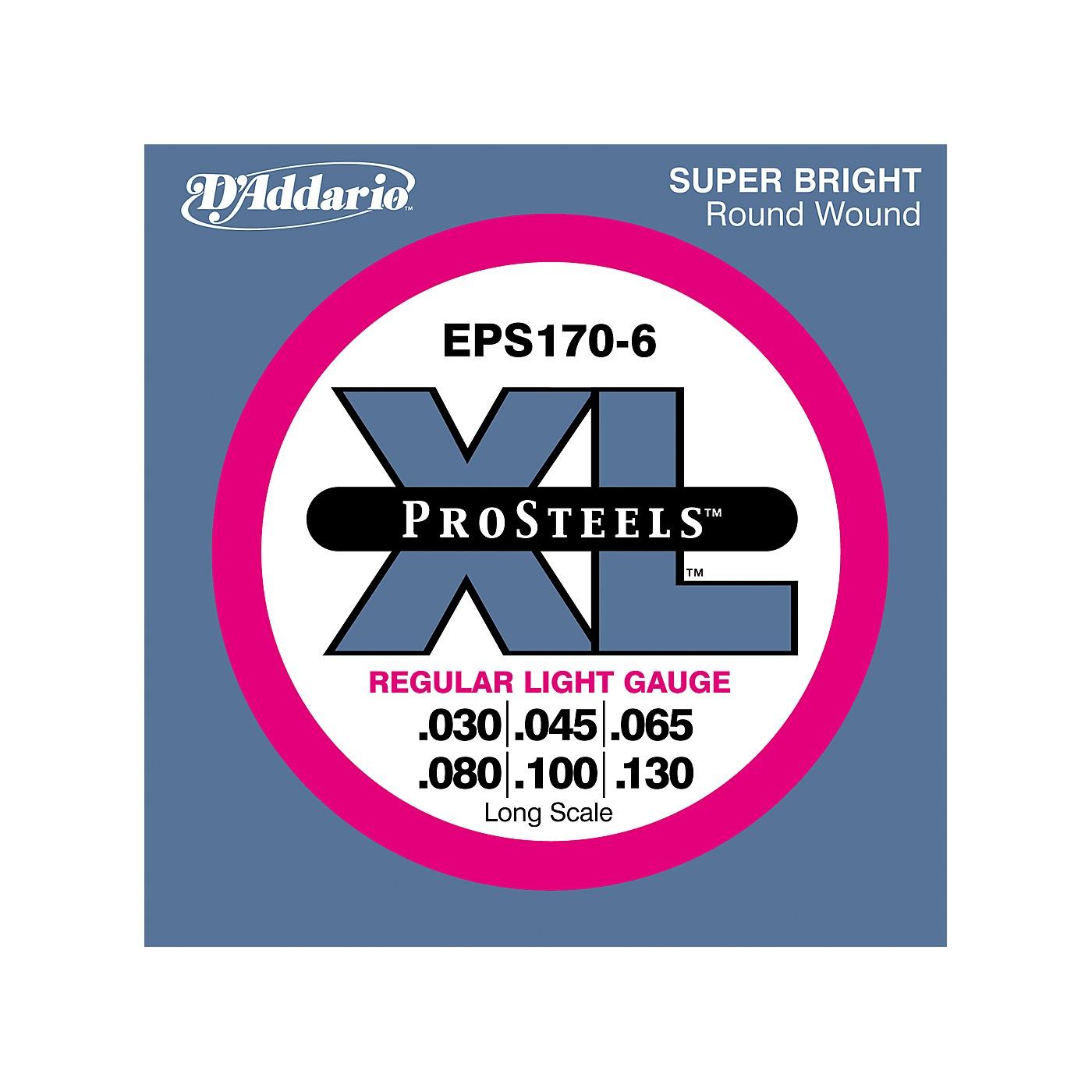 D'Addario ProSteels EPS170-6 Regular Light 6-String Bass Strings thumbnail