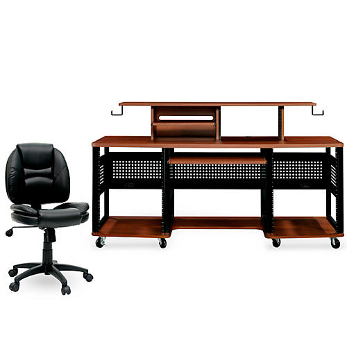 Studio RTA Producer Station Cherry and Task Chair DuraPlush Bundle thumbnail
