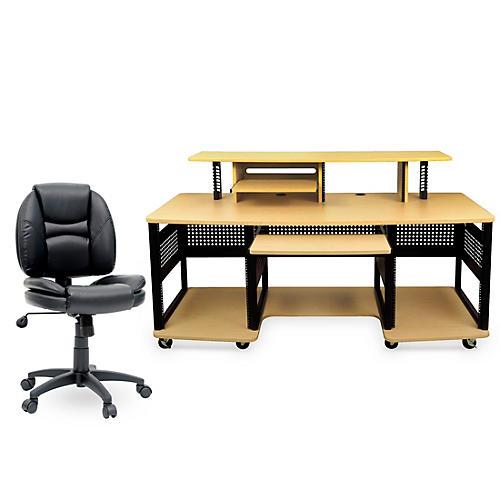 Studio RTA Producer Station Maple and Task Chair DuraPlush Bundle thumbnail