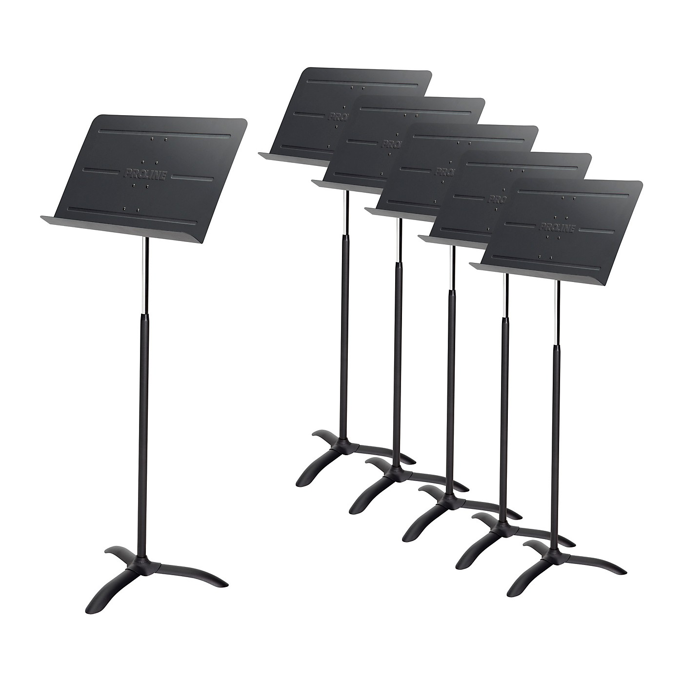 Proline Professional Orchestral Music Stand Black - 6-Pack thumbnail