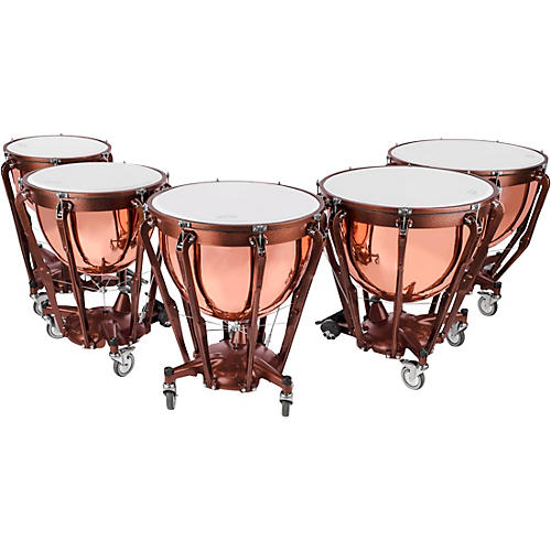 Ludwig Professional Series Polished Copper Timpani Set with Gauge thumbnail