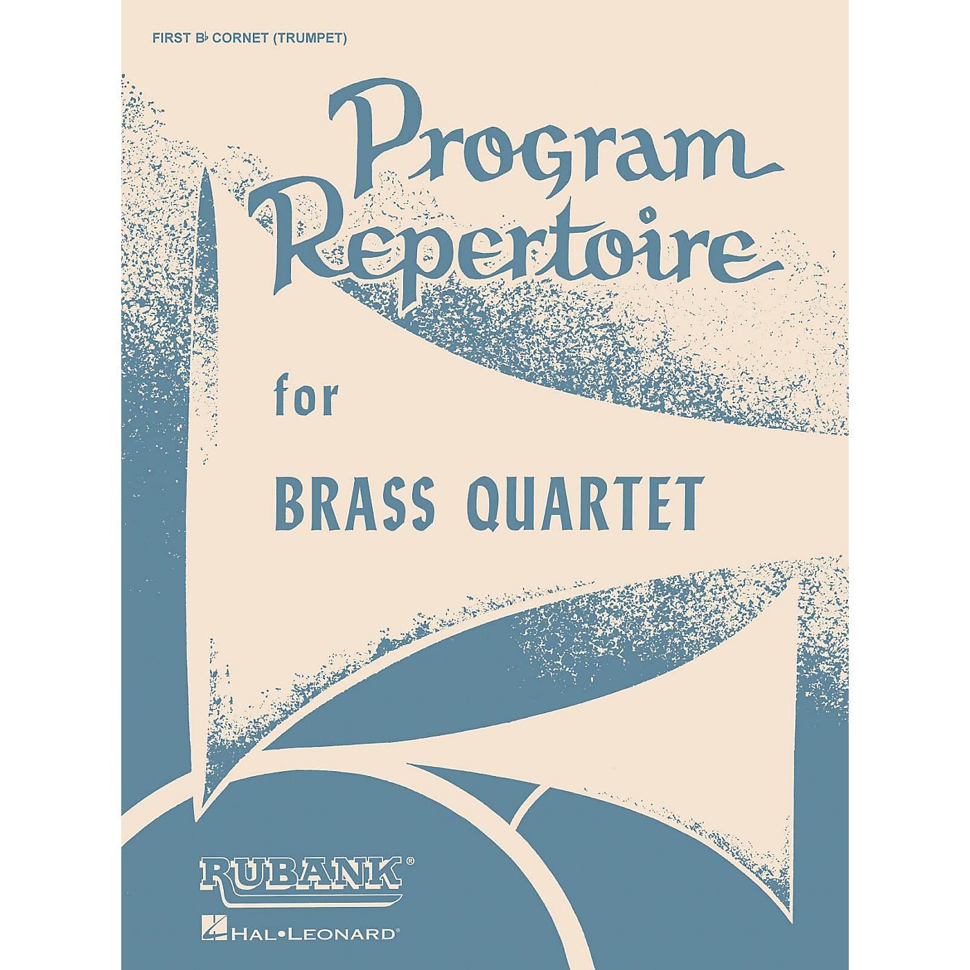 Rubank Publications Program Repertoire for Brass Quartet (1st B-flat Cornet/Trumpet) Ensemble Collection Series thumbnail