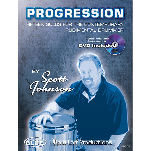 Row-Loff Progression Fifteen Solos for the Contemporary Rudimentary Drummer Book thumbnail