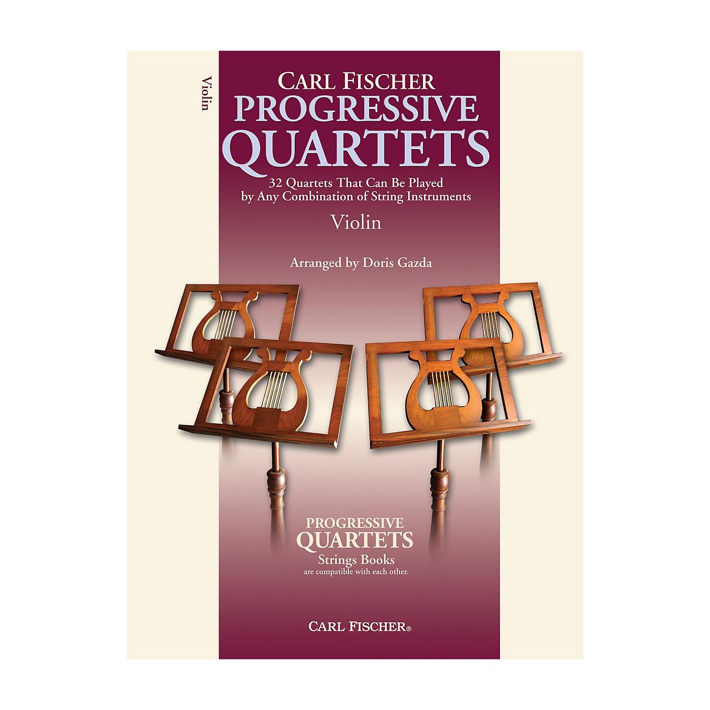 Carl Fischer Progressive Quartets for Strings- Violin (Book) thumbnail
