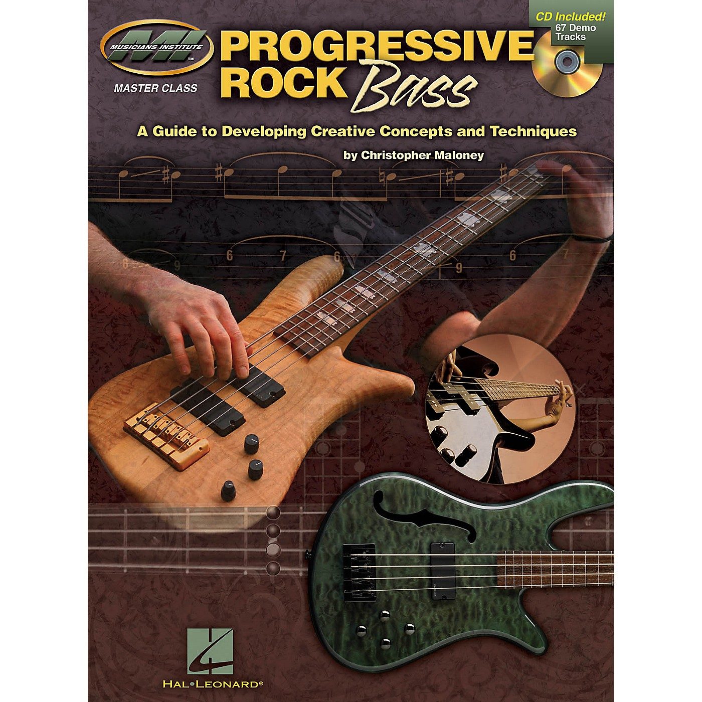 Musicians Institute Progressive Rock Bass Musicians Institute Press Series Softcover with CD Written by Christopher Maloney thumbnail