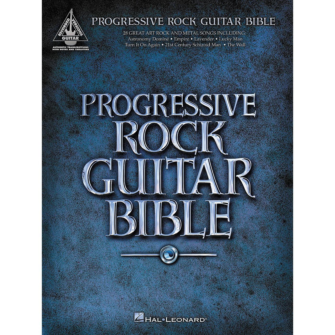 Hal Leonard Progressive Rock Guitar Bible (Guitar Tab Songbook) thumbnail