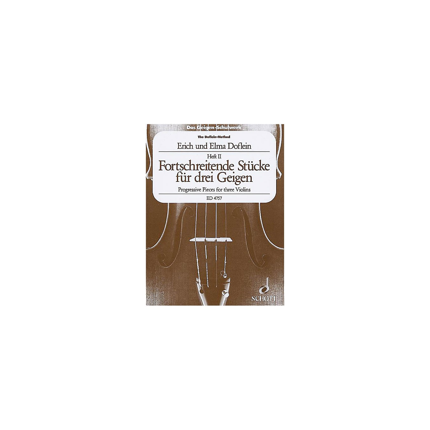Schott Progressive Studies and Pieces (Volume 2) Schott Series Composed by Elma Doflein thumbnail
