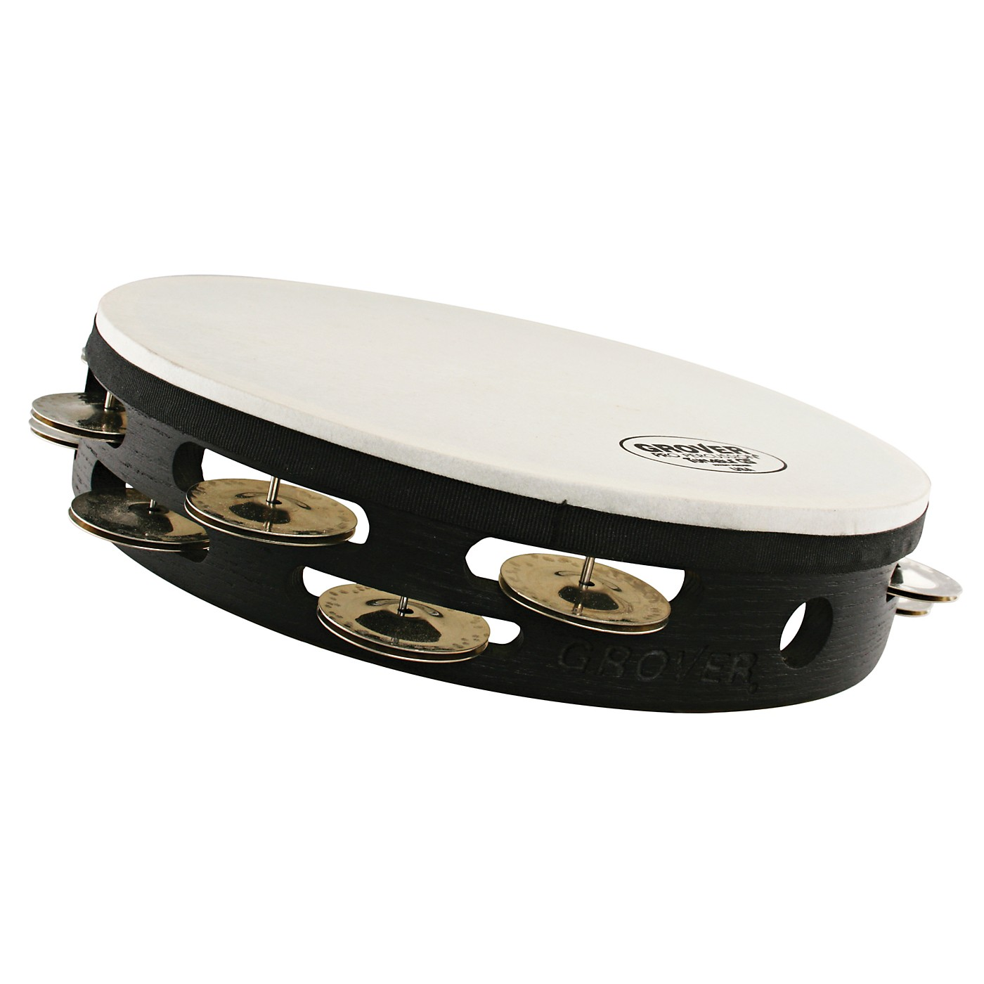 Grover Pro Projection-Plus Double-Row Tunable German Silver Tambourine thumbnail