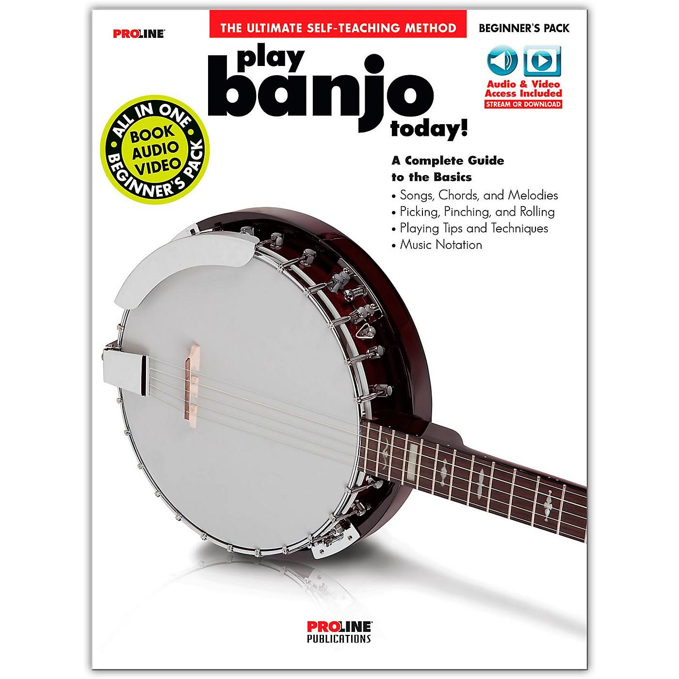 Proline Proline Play Banjo Today Beginner's Pack Book/Audio & Video Online thumbnail