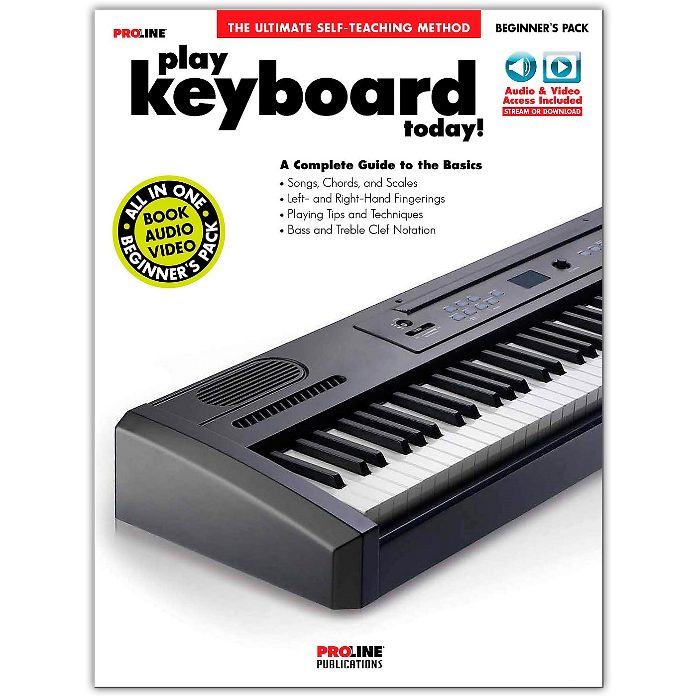 Proline Proline Play Keyboard Today Beginner's Pack Book/Audio & Video Online thumbnail