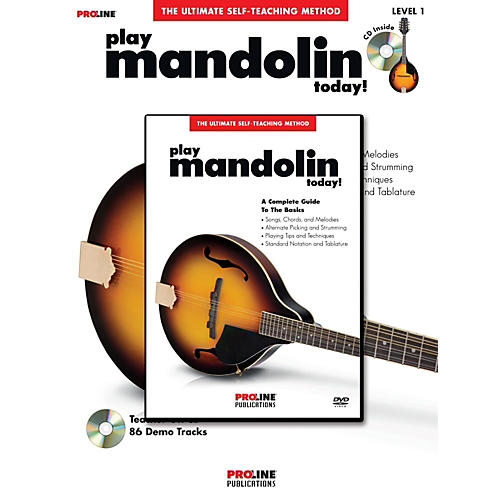 Proline Proline Play Mandolin Today! Method Book with CD & DVD thumbnail