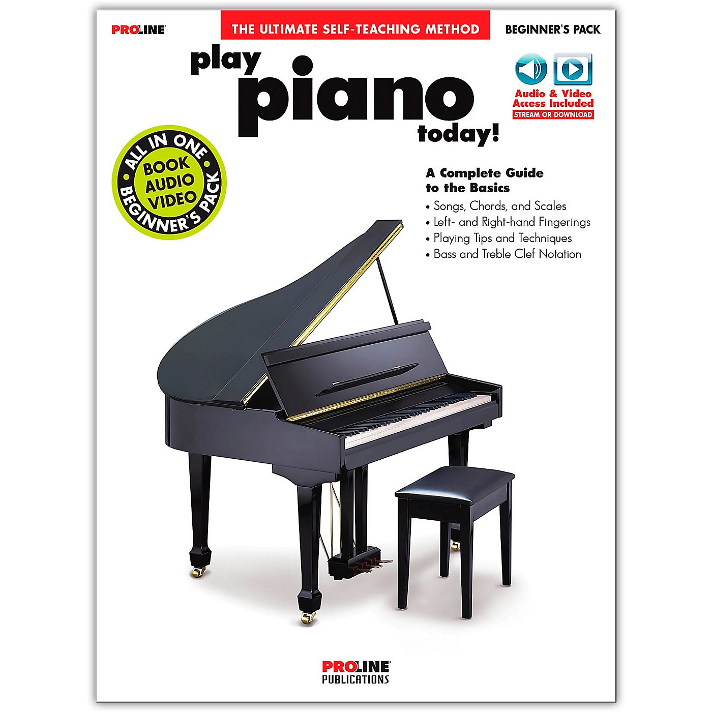 Proline Proline Play Piano Today Beginner's Pack Book/Audio & Video Online thumbnail