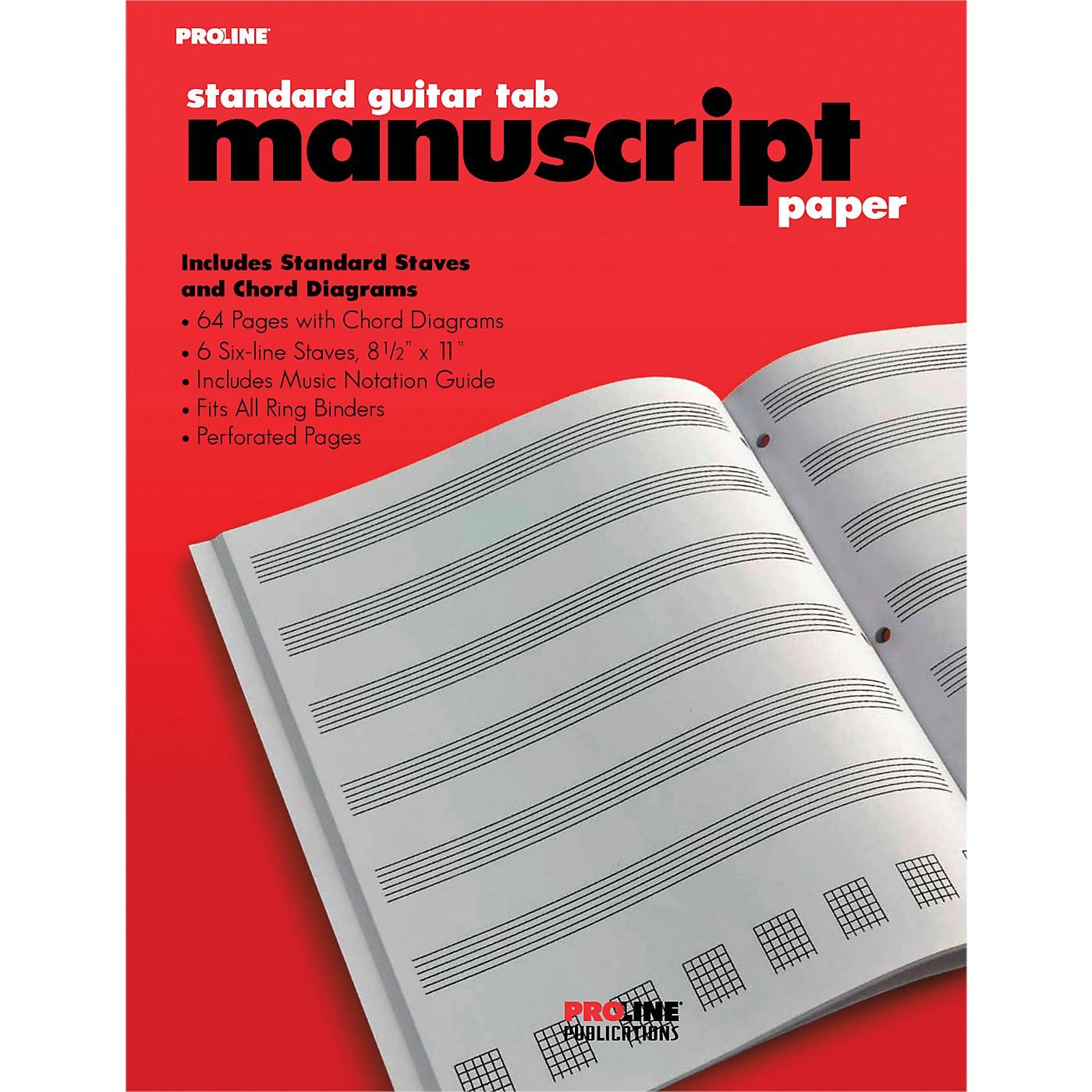 Proline Proline Standard Guitar Tablature Manuscript Paper Pad thumbnail