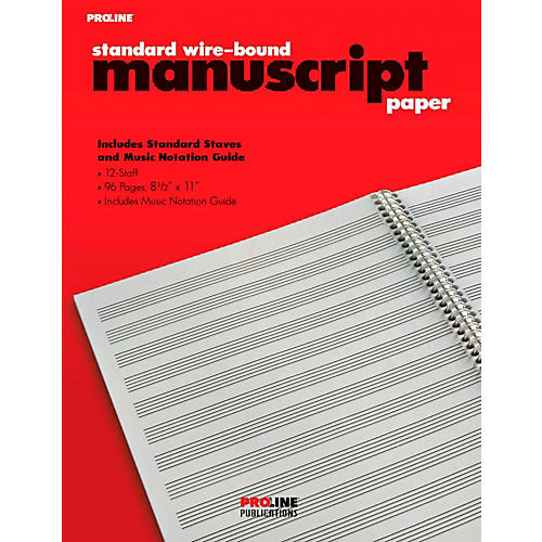 Proline Proline Standard Wire-Bound Manuscript Paper Pad-thumbnail