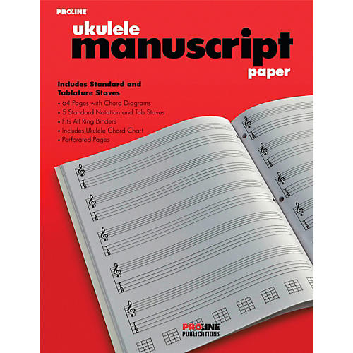 Proline Proline Ukulele Manuscript Paper Pad thumbnail