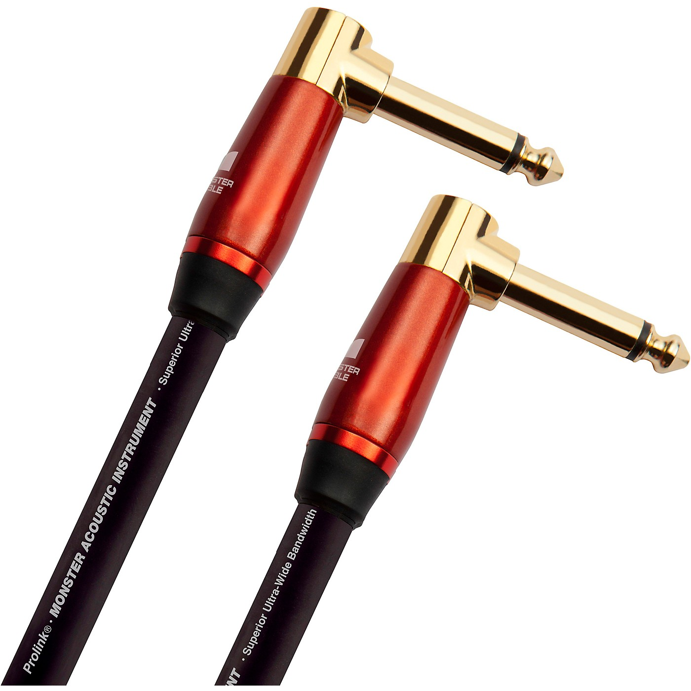 Monster Cable Prolink Acoustic Pro Audio Instrument Cable, Right Angle to Right Angle thumbnail