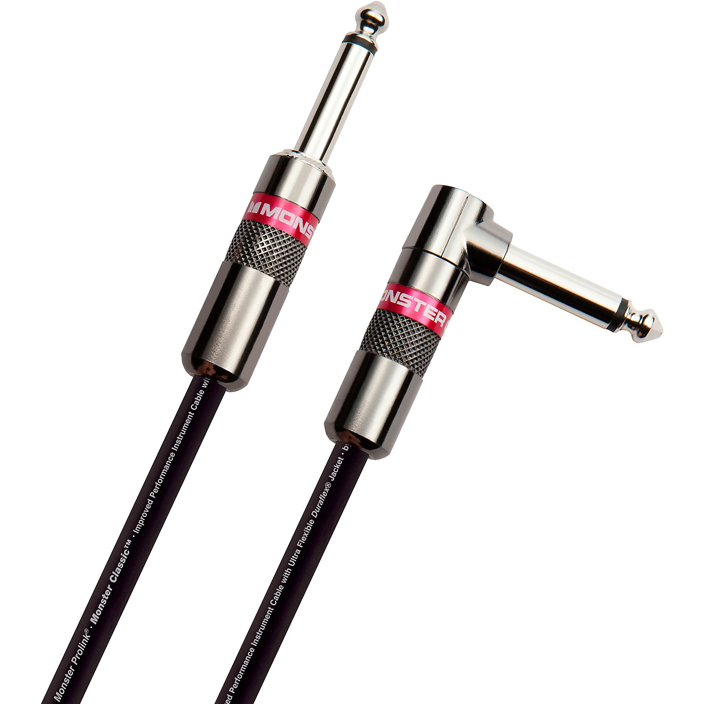 Monster Cable Prolink Classic Pro Audio Instrument Cable Right Angle to Straight thumbnail