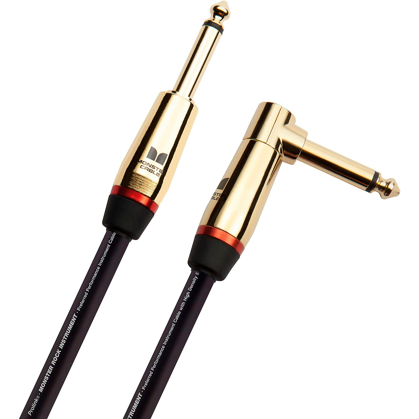 Monster Cable Prolink Rock Pro Audio Instrument Cable, Right Angle to Straight thumbnail