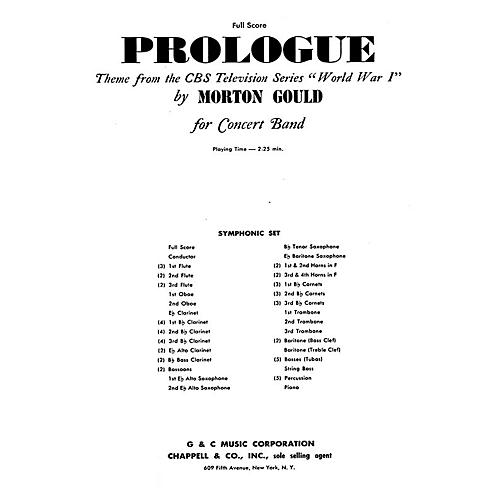 G. Schirmer Prologue (from CBS TV Production World War I) (Full Score) Study Score Series Composed by Morton Gould thumbnail