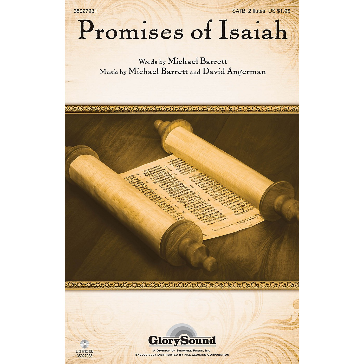 Shawnee Press Promises of Isaiah SATB WITH FLUTE (OR C-INST) composed by Michael Barrett thumbnail