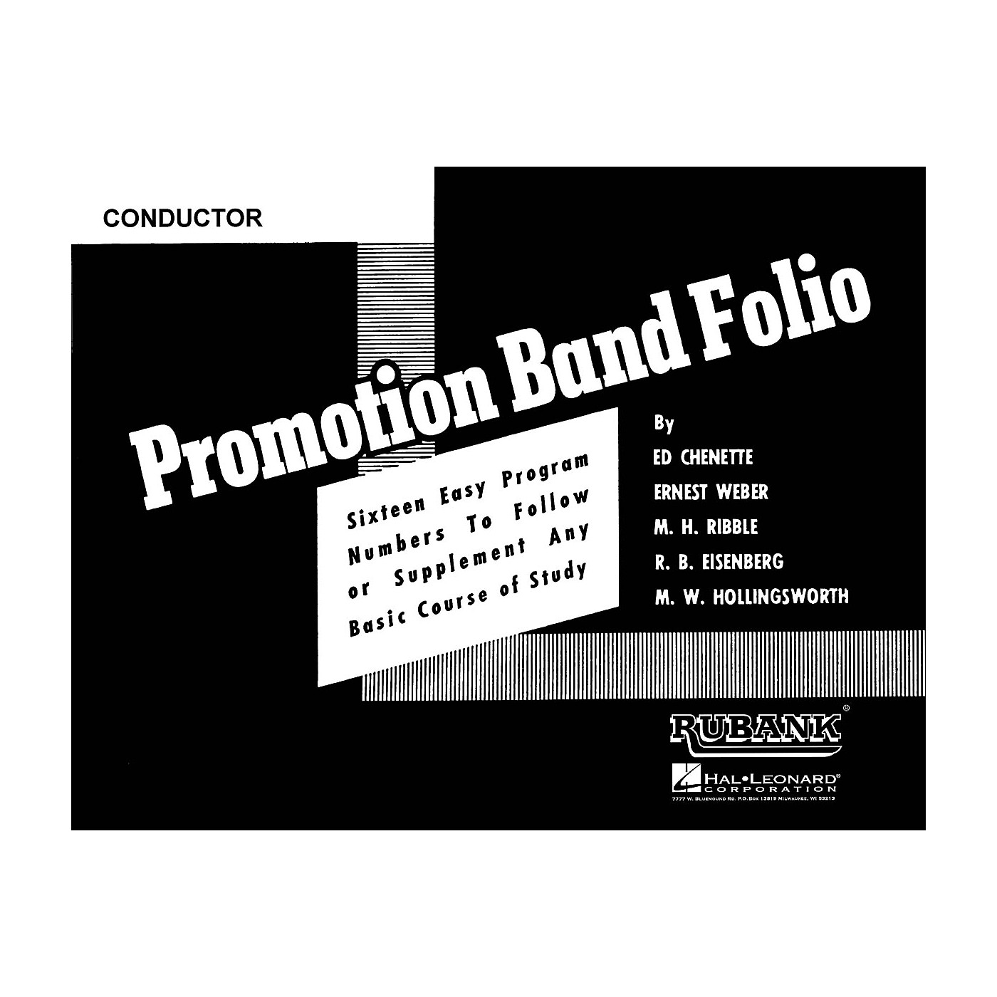 Rubank Publications Promotion Band Folio (Baritone Saxophone) Concert Band Level 2-3 Composed by Various thumbnail