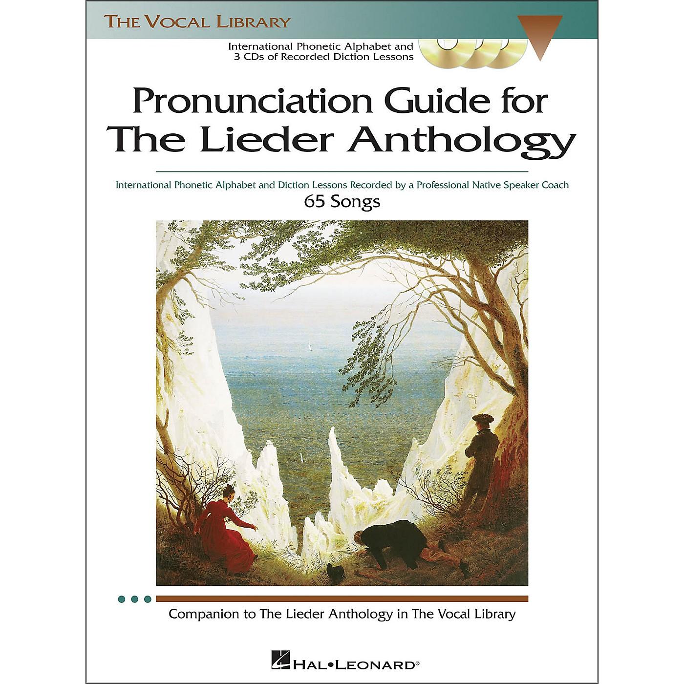 Hal Leonard Pronunciation Guide for The Lieder Anthology Book / 3 CD's thumbnail