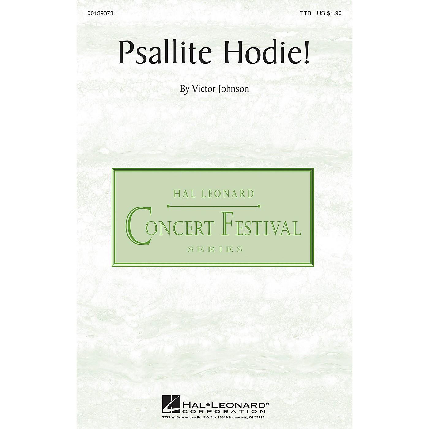 Hal Leonard Psallite Hodie! TTB composed by Victor C. Johnson thumbnail