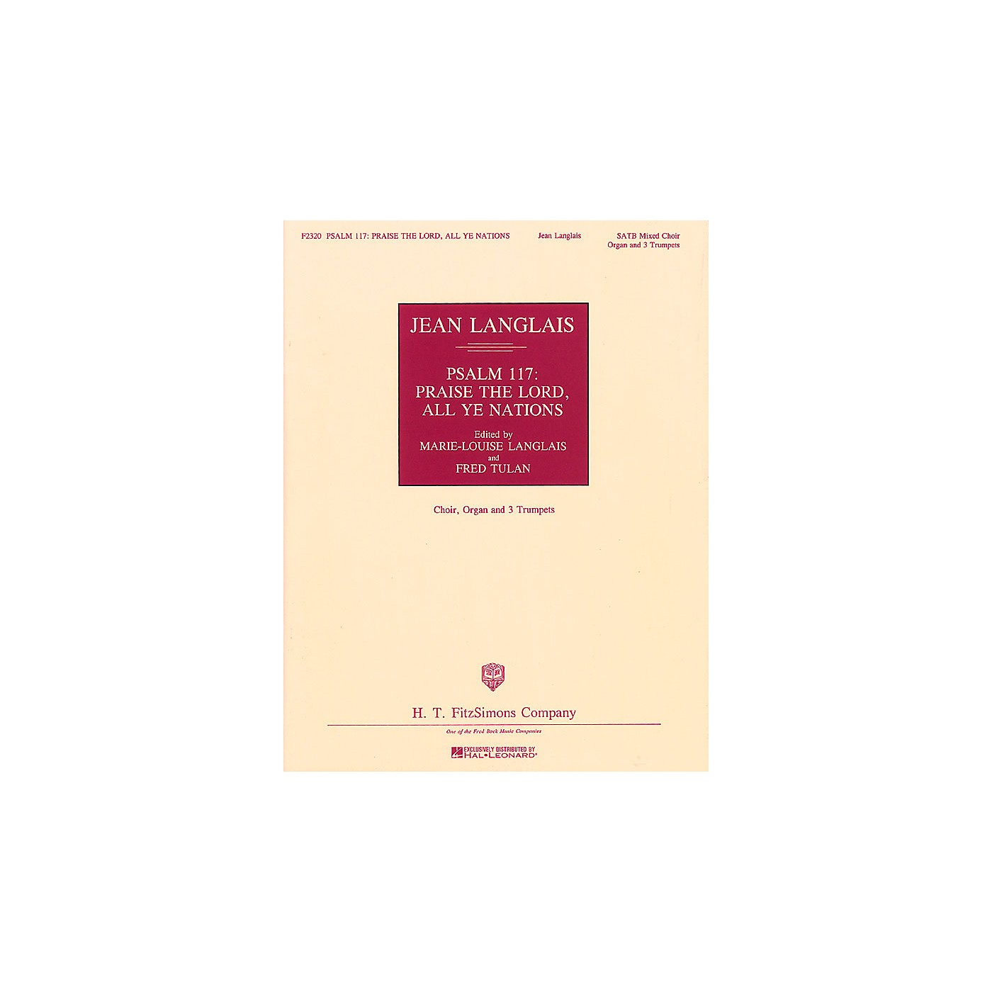 Fred Bock Music Psalm 117: Praise the Lord, All Ye Nations SATB DV A Cappella arranged by Marie-Louise Langlais thumbnail