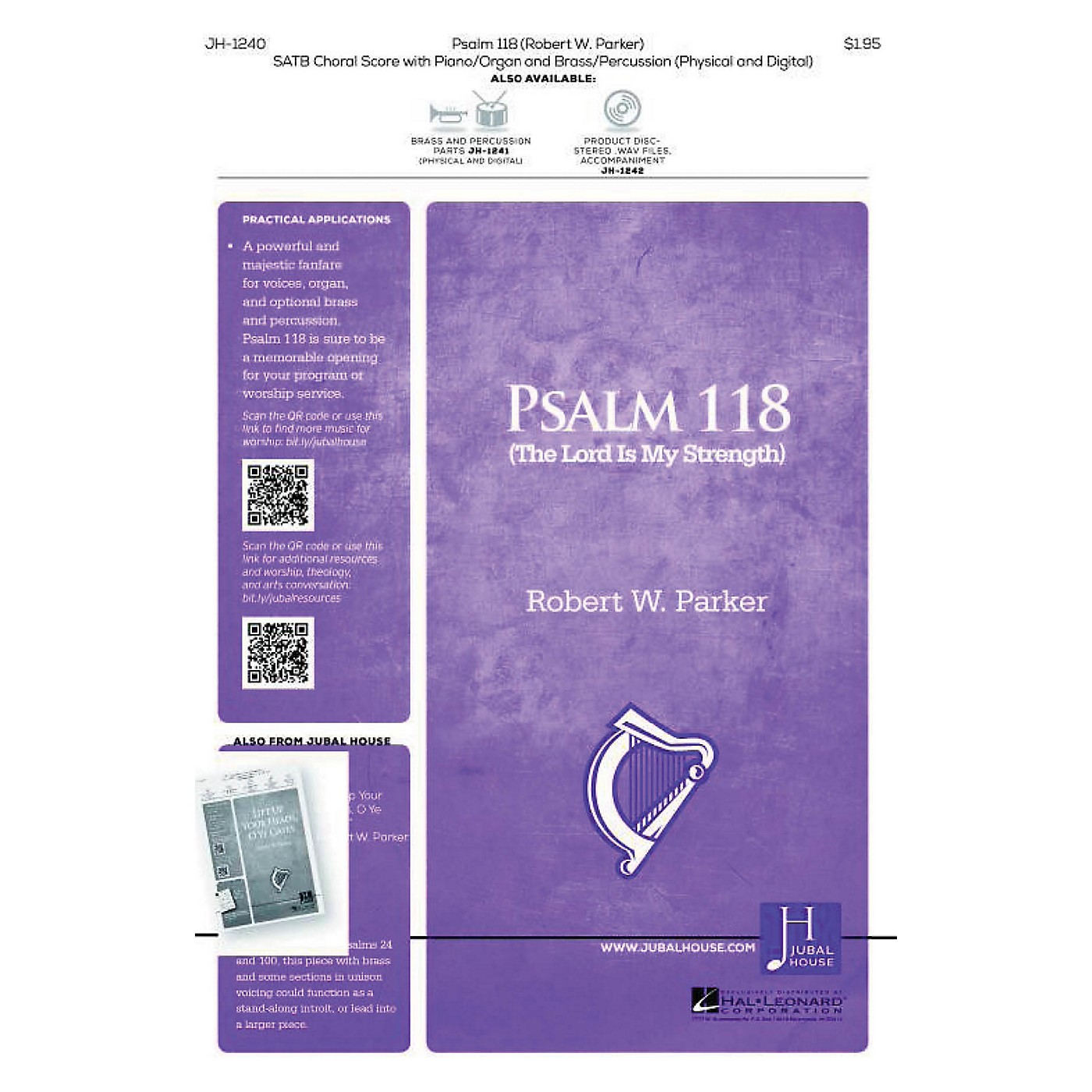 Jubal House Publications Psalm 118 BRASS/PERCUSSION PARTS Composed by Robert Parker thumbnail