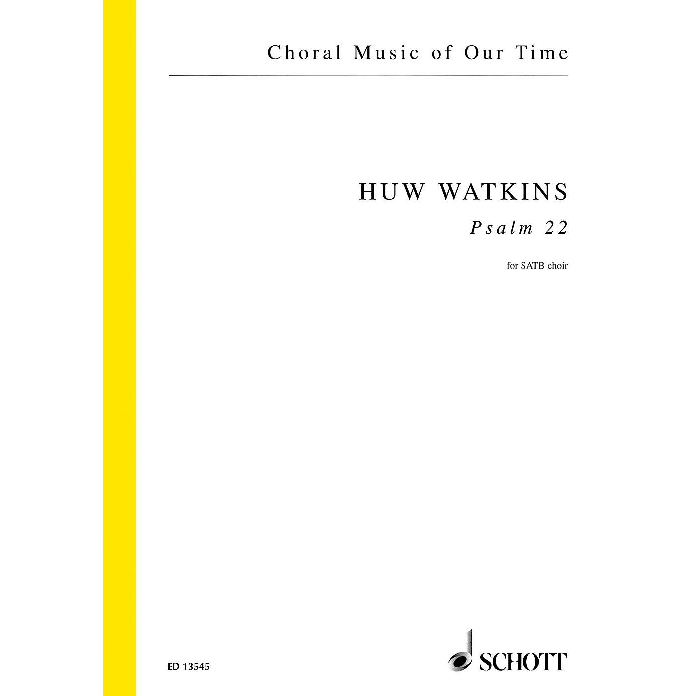 Schott Psalm 22 (SATB Choir unaccompanied) SATB a cappella Composed by Huw Watkins thumbnail