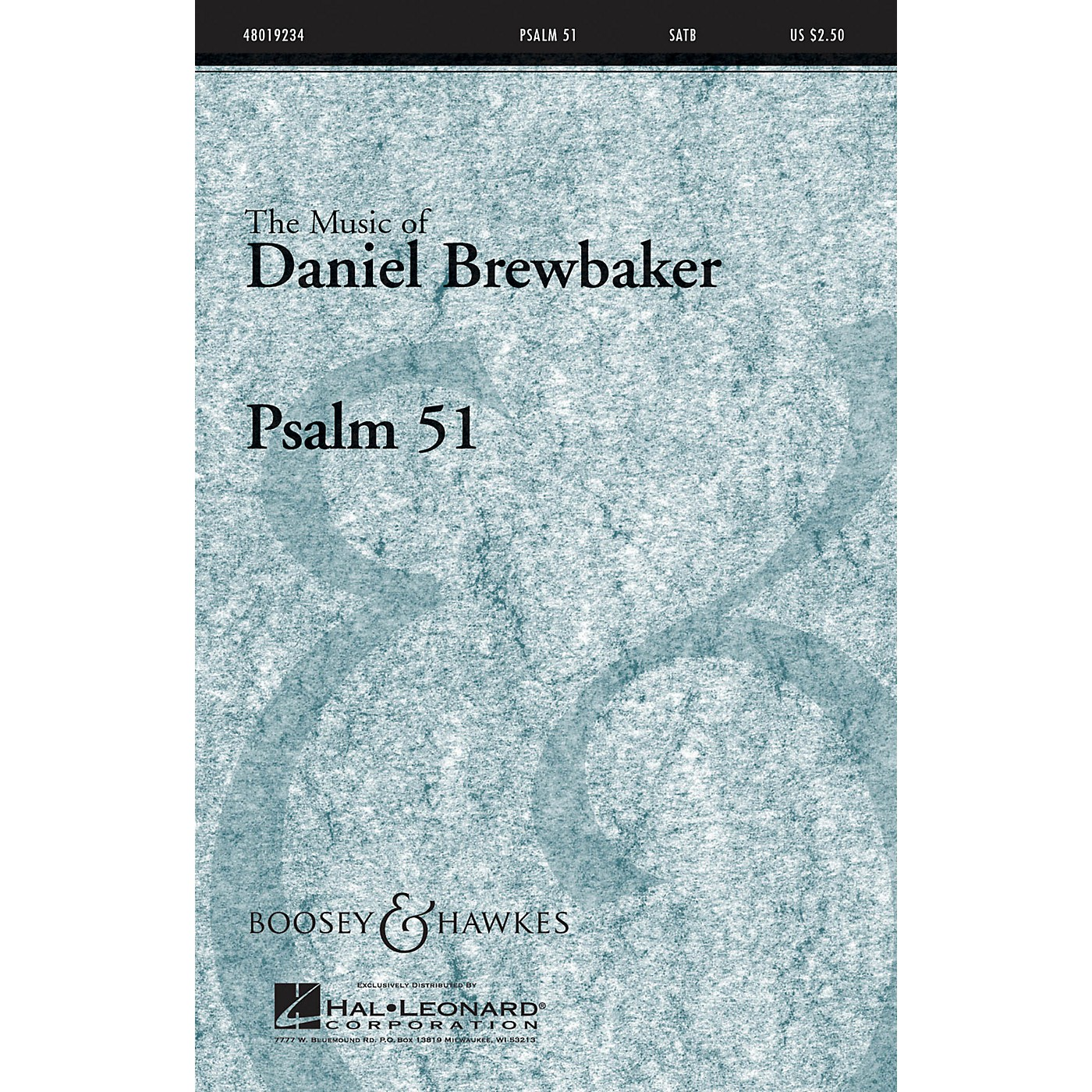 Boosey and Hawkes Psalm 51 (CME Conductor's Choice) SATB composed by Daniel Brewbaker thumbnail