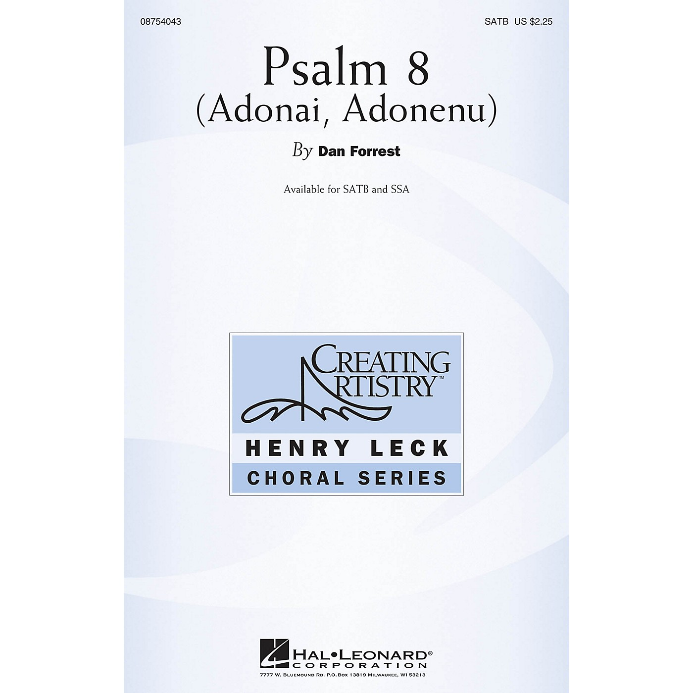 Hal Leonard Psalm 8 (Adonai, Adonenu) SATB composed by Dan Forrest thumbnail