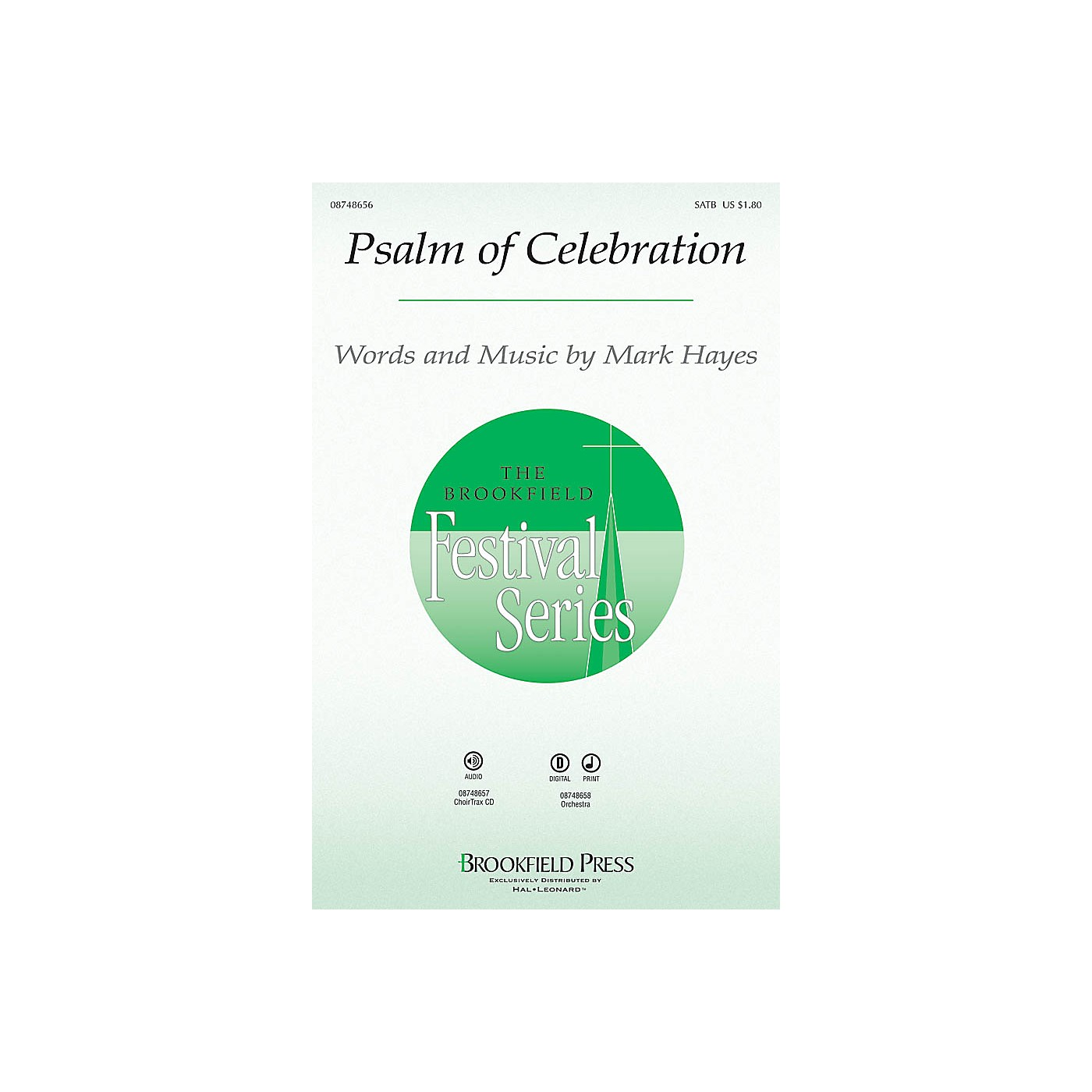 Brookfield Psalm of Celebration CHOIRTRAX CD Composed by Mark Hayes thumbnail
