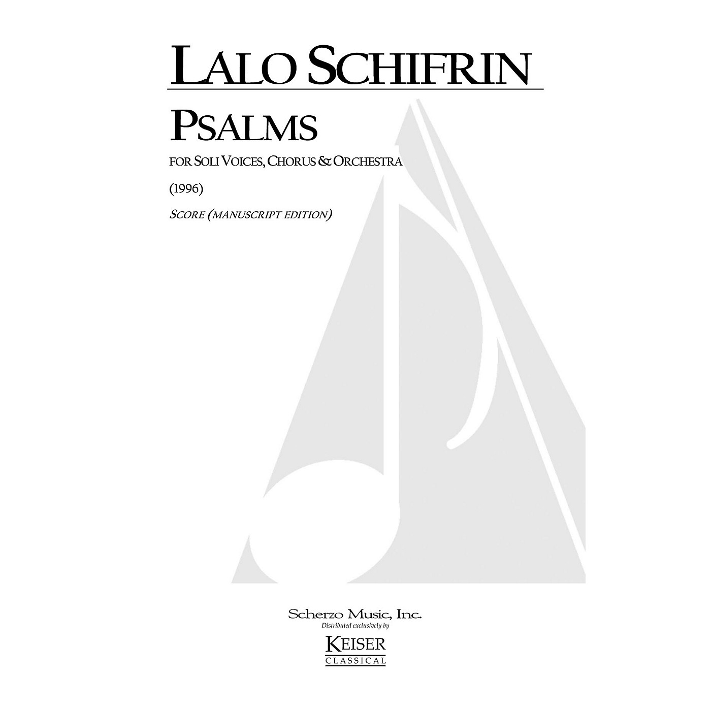 Lauren Keiser Music Publishing Psalms (for Chorus and Orchestra) Full Score Composed by Lalo Schifrin thumbnail
