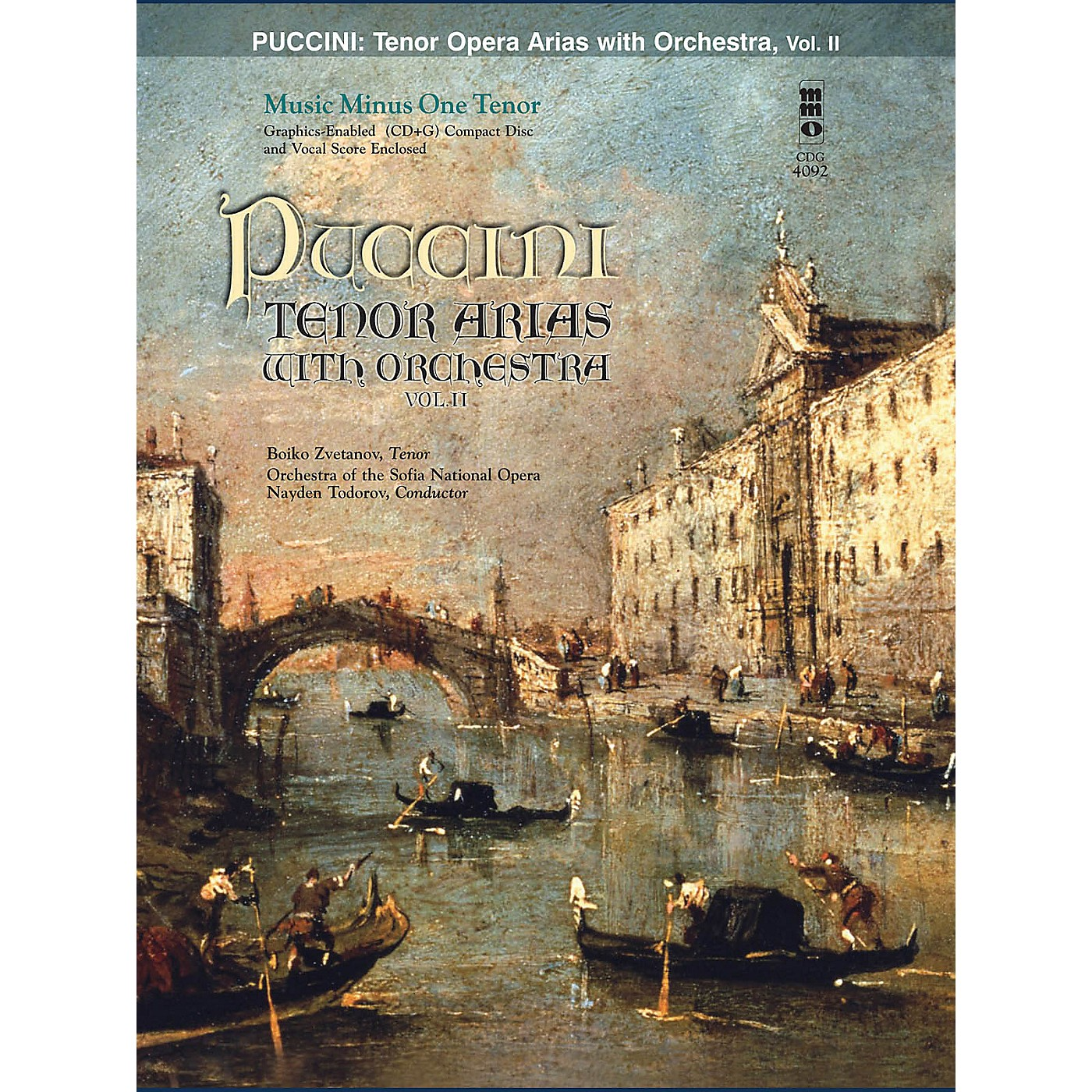 Music Minus One Puccini Arias for Tenor and Orchestra - Vol. II Music Minus One Softcover with CD by Giacomo Puccini thumbnail