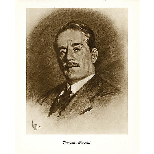 Music Sales Puccini (Lupas Small Portrait Poster) Music Sales America Series thumbnail