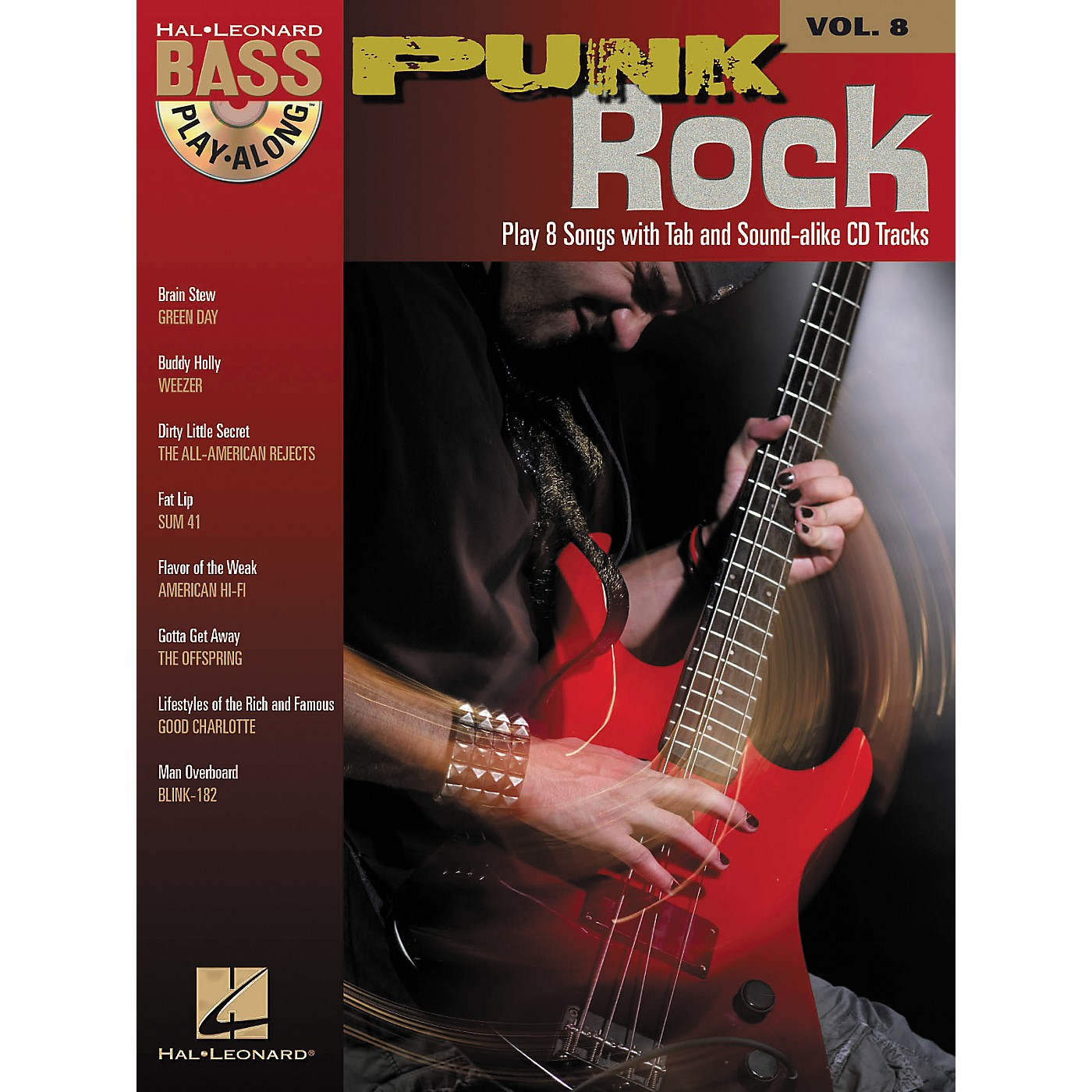 Hal Leonard Punk Rock: Bass Play-Along Series, Volume 8 (Book/CD) thumbnail