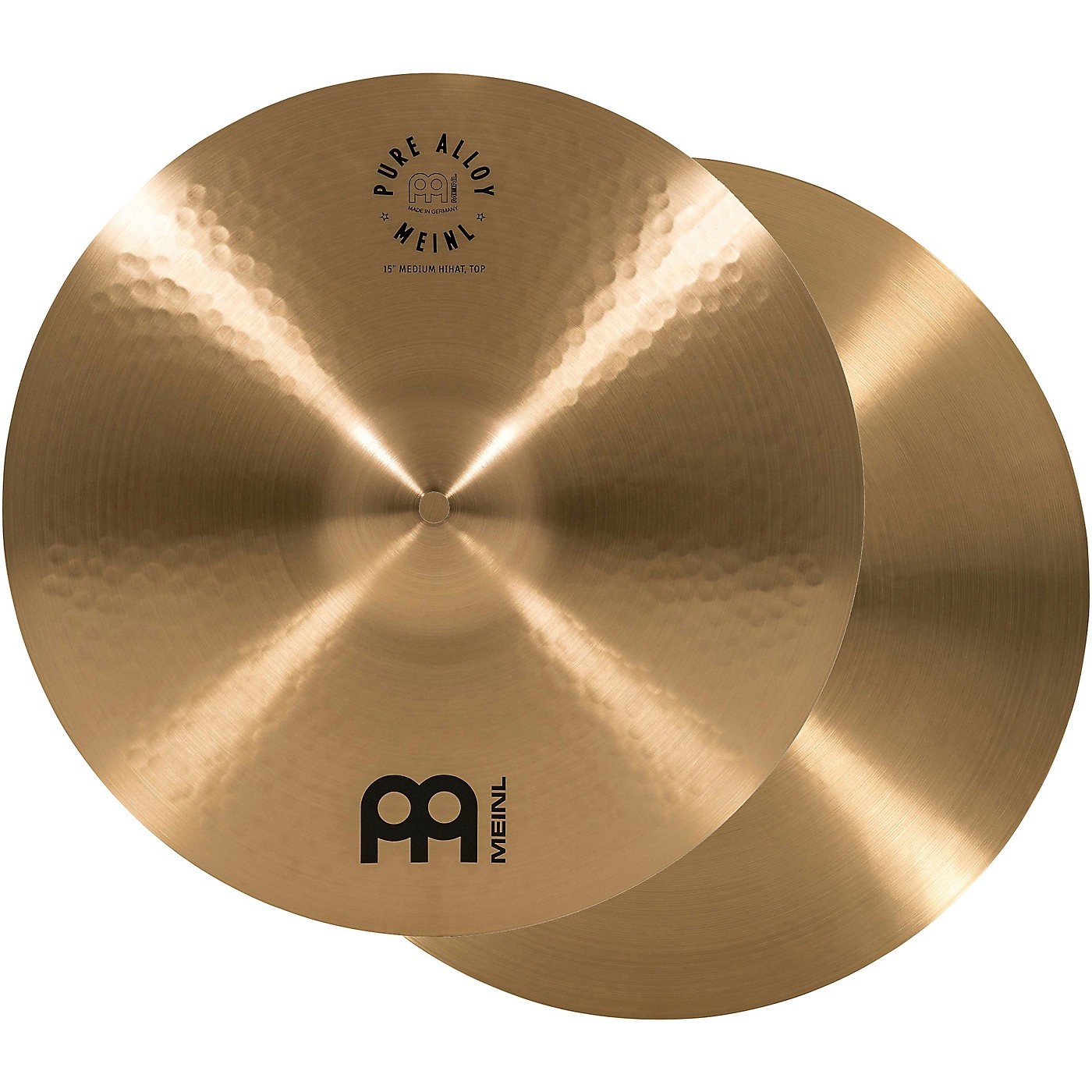 Meinl Pure Alloy Traditional Medium Hi-Hat Cymbal Pair thumbnail