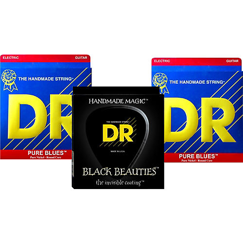 DR Strings Pure Beauties Pure Blues Electric Guitar Strings 3-Pack thumbnail