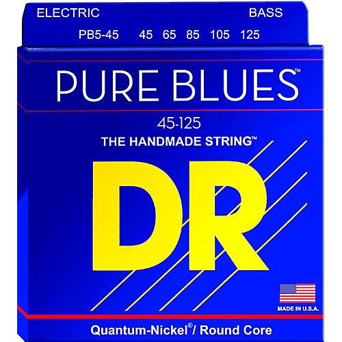 DR Strings Pure Blues Medium 5-String Bass Strings (45-125) thumbnail