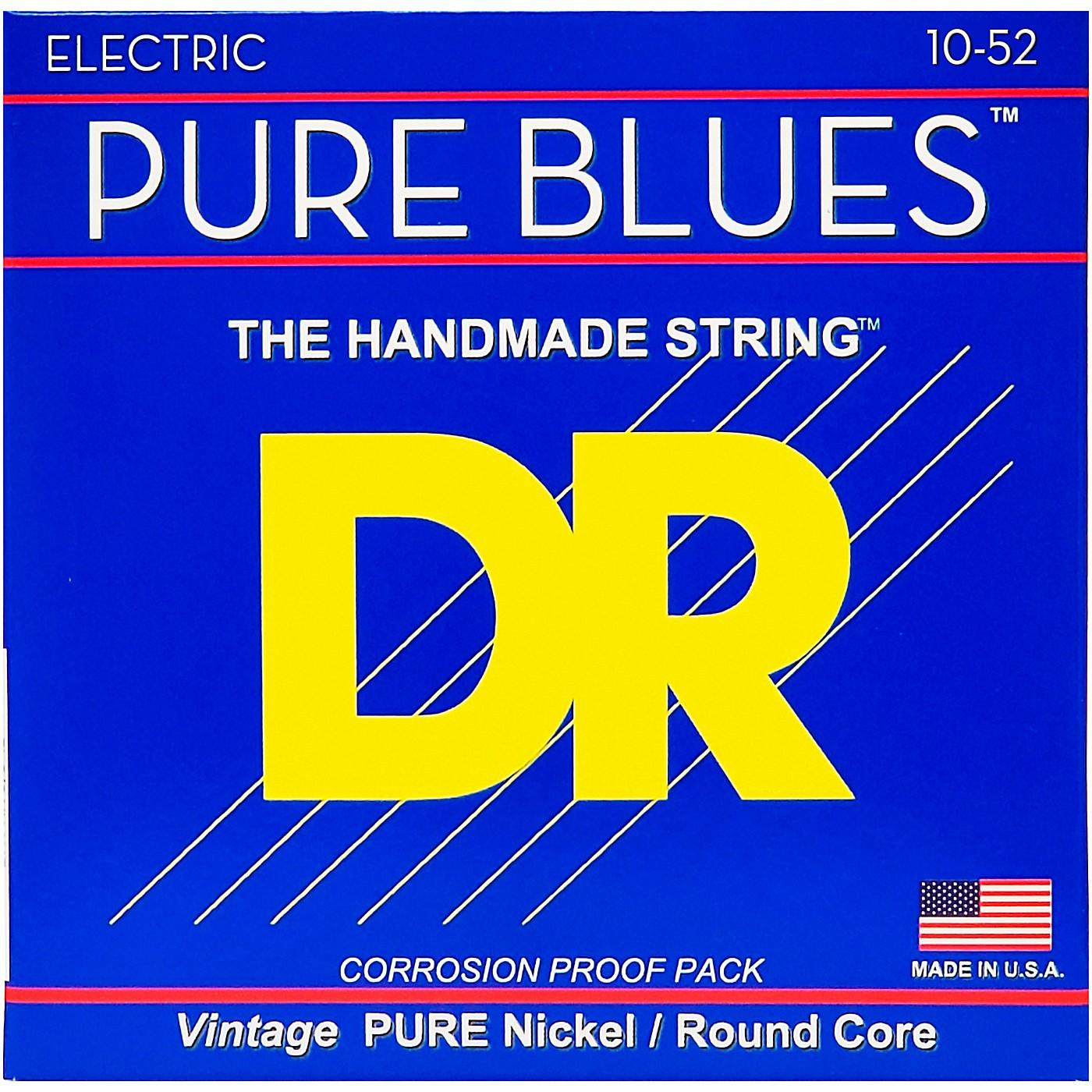DR Strings Pure Blues  Nickel Big N' Heavy Electric Guitar Strings (10-52) thumbnail
