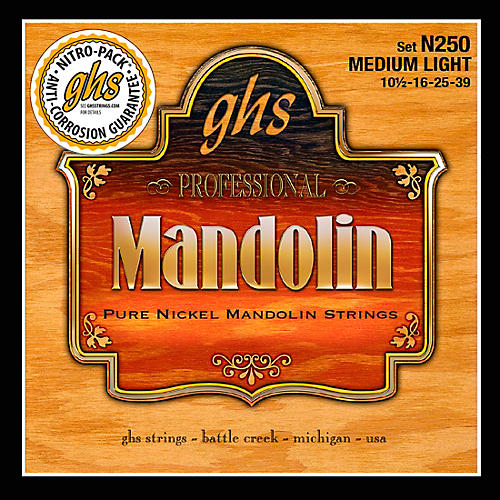 GHS Pure Nickel Mandolin Medium Light Strings thumbnail