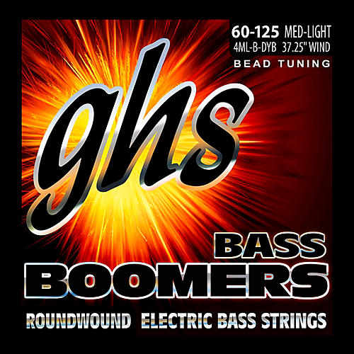 GHS Pure Nickel Roundwound Bass Strings BEAD Tuning Med-Light 60-125 thumbnail