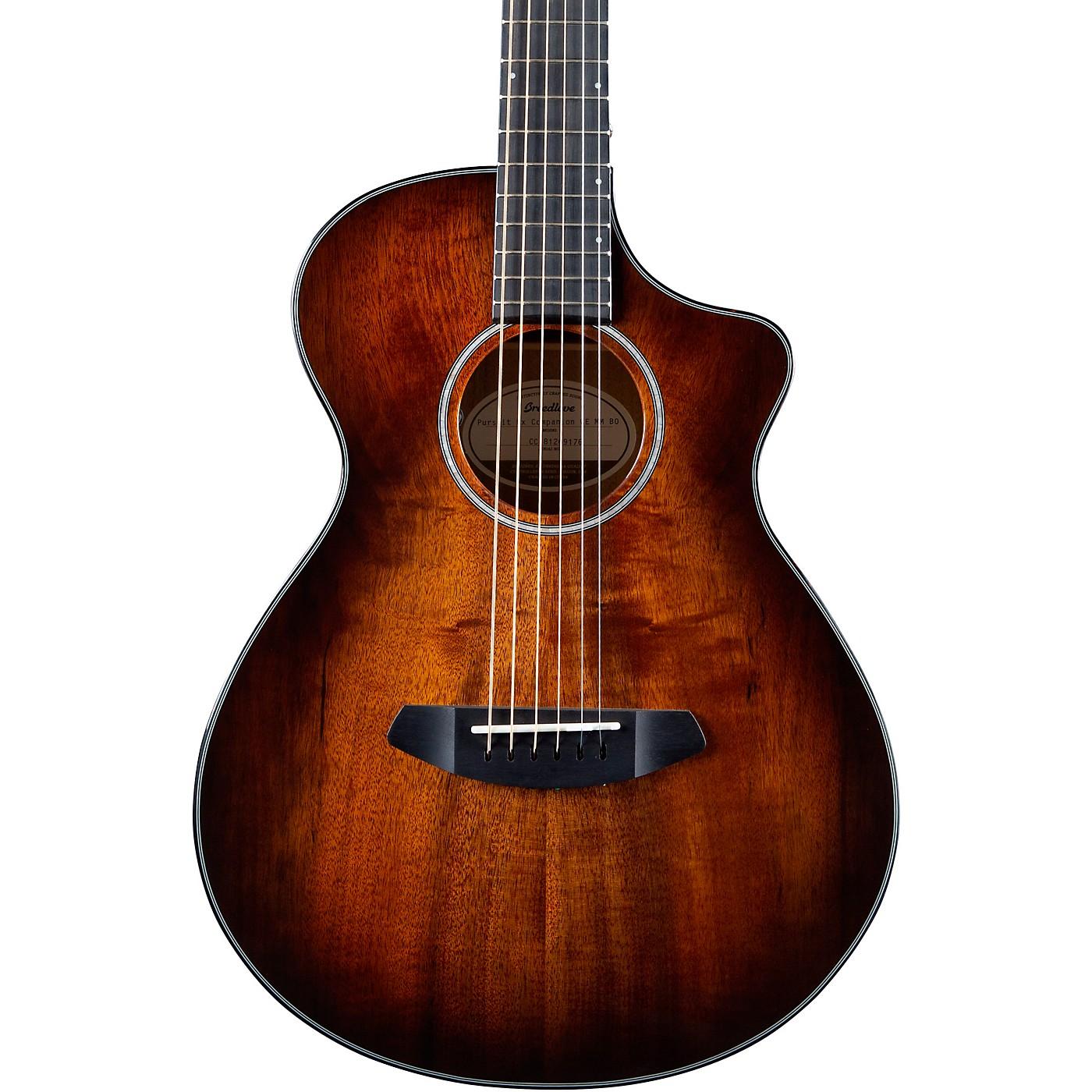 Breedlove Pursuit Exotic Companion CE Myrtlewood Acoustic-Electric Guitar thumbnail